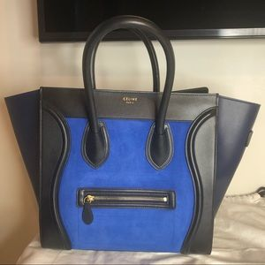 Celine Tri - Color Mini Luggage Suede/Leather